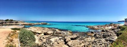 Beatiful Sunny Beach day in Formentera Spain. Royalty Free Stock Photos