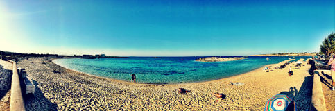 Beatiful Sunny Beach day in Formentera Spain. Royalty Free Stock Image
