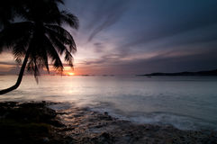 Beatiful sunset at the beach Stock Photo