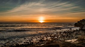 A beatiful sunset in Malibu. The weather was simply perfect Royalty Free Stock Images
