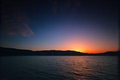 Beatiful Sunset at Sea. Sunset at sea, Brno, Czech Republic royalty free stock images