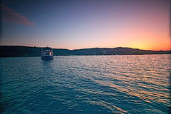Beatiful Sunset at Sea. Sunset at sea, Brno, Czech Republic royalty free stock photos