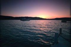 Beatiful Sunset at Sea. Sunset at sea, Brno, Czech Republic stock photo