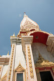 The beatiful temple Wat Chalong in Phuket, Thailand. View from of the temple Wat Chalong stock image