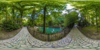 Beatiful view of arboretum and Nature. Dendrarium stock image