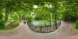 Beatiful view of arboretum and Nature. Dendrarium royalty free stock photo