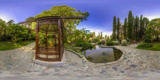 Beatiful view of arboretum and Nature. Dendrarium stock photo