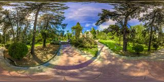 Beatiful view of arboretum and Nature. Dendrarium royalty free stock photography