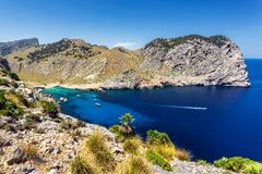Beatiful view of Cala Figuera beach in Mallorca, Spain. Beatiful view of Cala Figuera beach and rocks in Mallorca, Spain Stock Images
