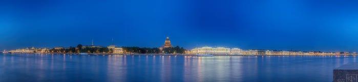 Beatiful view Neva river in Saint Petersburg Stock Image