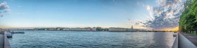 Beatiful view Neva river in Saint Petersburg, Russia Stock Photos