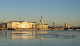 Beatiful view of Saint-Petersburg Royalty Free Stock Photos