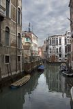 Beautiful view of Venice chanel in winter royalty free stock photos