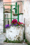 Beatiful village on Corfu stock photos