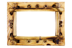 Beatiful vintage bamboo frame Royalty Free Stock Photos