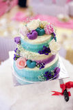 Beatiful wedding cake for wedding ceremony.  royalty free stock photo