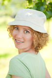 Beatiful woman with braces Royalty Free Stock Photos