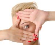 Beatiful woman eye, isolated Royalty Free Stock Image