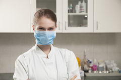 Beatiful women doctor with face mask Royalty Free Stock Photos