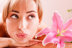 Beatiful women relax in spa Stock Photo