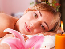 Beatiful women relax in spa Stock Images