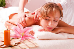Beatiful women relax in spa Stock Image
