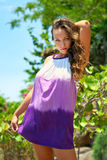 Beatiful Young woman outdoors portrait. royalty free stock photo