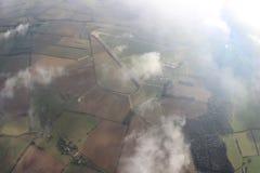 Beatifulful-Ansicht des Landes unten stockfoto