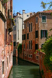 Beatifull canal in Venice. Small canal in the beautiful and romantic Venice Stock Photos