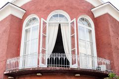 Beatifull house with balcony in old town, Batumi, Georgia royalty free stock photos