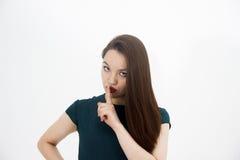 Beatifull kobieta na białym tle Zdjęcie Stock