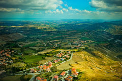 Beatifull landscape from the hill Royalty Free Stock Image