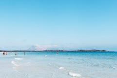 Beatifull sea water at Sardinia coast, Italy. Stock Photography