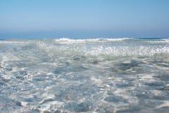 Beatifull sea water at Sardinia coast, Italy. Royalty Free Stock Photography