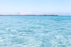 Beatifull sea water at Sardinia coast, Italy. Royalty Free Stock Images