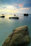 Beatifull Sunset At Teluk Chempedak Royalty Free Stock Photo