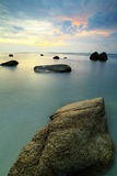 Beatifull Sunset At Teluk Chempedak Royalty Free Stock Photo