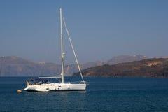 Beatifull Yaht en el Mar Egeo Foto de archivo