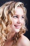 Beatifullmeisje het glimlachen stock foto's