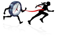 Beating the Clock Royalty Free Stock Image