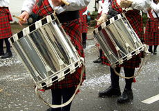 Beating the Drums at the Fastnacht Carnival Stock Photography