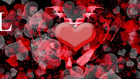 Beating heart valentine background Stock Image