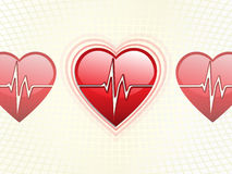 Beating hearth / medical background Royalty Free Stock Photos