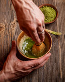 Beating matcha Royalty Free Stock Images