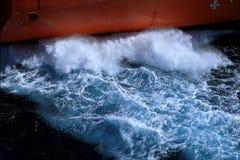 Beating sea water Royalty Free Stock Image