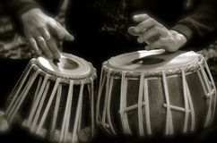 Beating to the sound of your heart. The beating of drums is so beautiful Stock Photo
