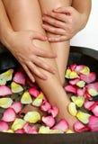 Beatitudine per i piedi faticosi Immagine Stock