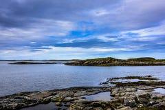 Beatitudine scandinava dell'oceano Immagini Stock