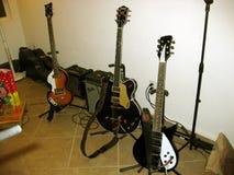 Beatles吉他集合 图库摄影