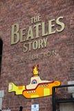Beatles故事,被打开从5月199 库存照片